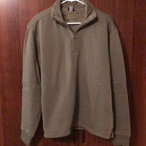 Army Green Fully Lined 1/2 Zip-up